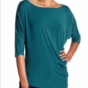 Tart - Lesly Gathered Side Tee in Deep Teal, Sz M